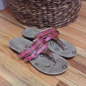 Orthaheel leather sandals